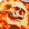 3D Print Skull Head Fire Burning Tunic Dress 4