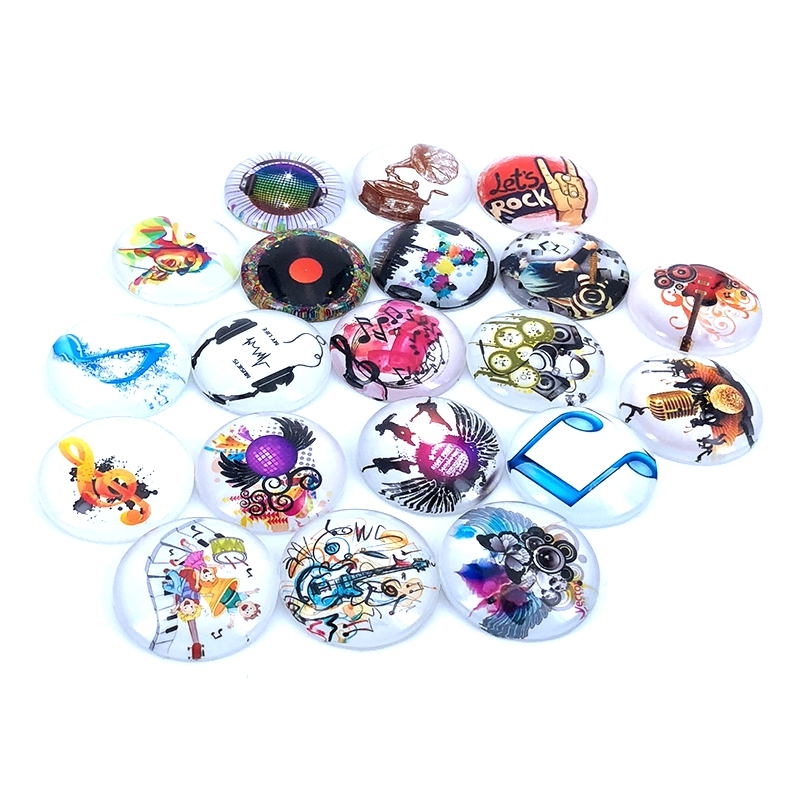 10pcs/lot 18mm 20mm 25mm Round Music Instrument Pattern Glass Cabochon for DIY Jewelry Making Findings & Components T003 yohere furniture non woven wardrobe clothe storage wardrobe simple portable closet new fashion sundries cabinet dust proof