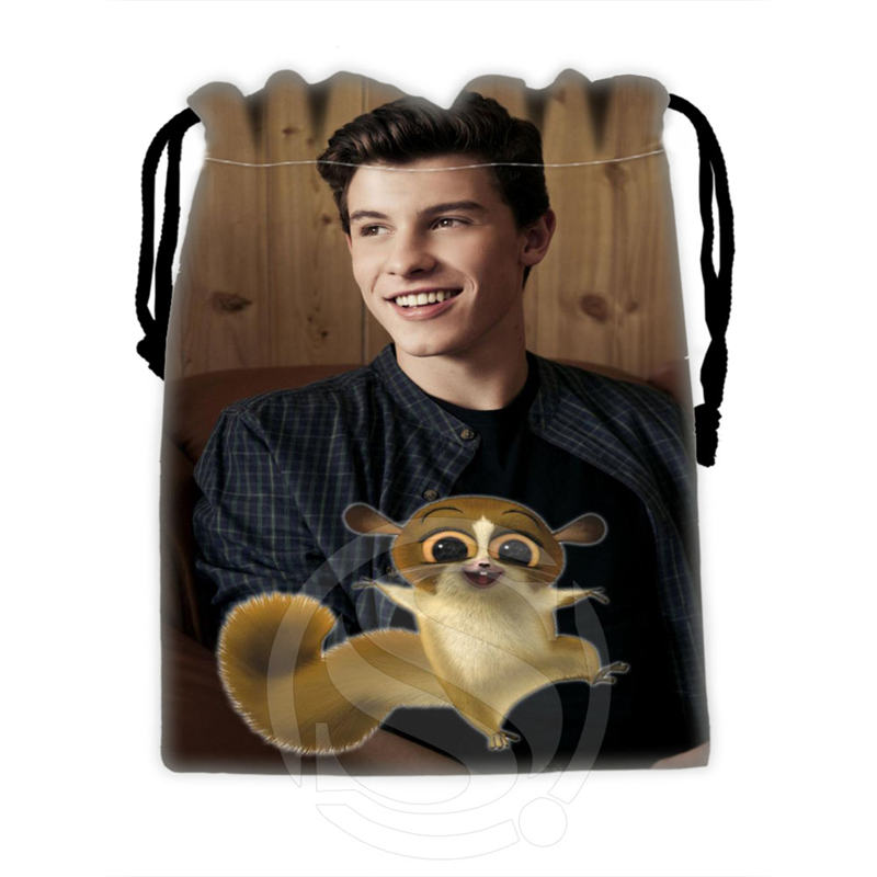 Fashionable Custom Shawn Mendes 1 drawstring bags for mobile phone tablet PC packaging Gift Bags18X22cm SQ00715