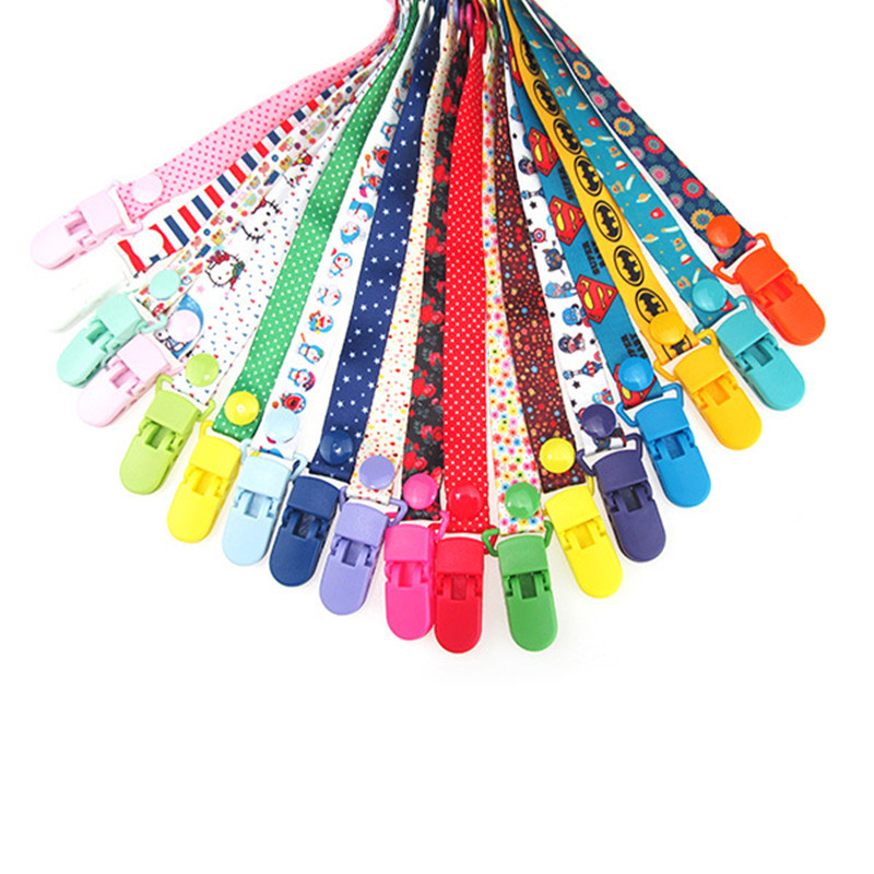 New Adjust font b Baby b font Pacifier Clip Chain Ribbon Holder Chupetas Soother Pacifier Clips