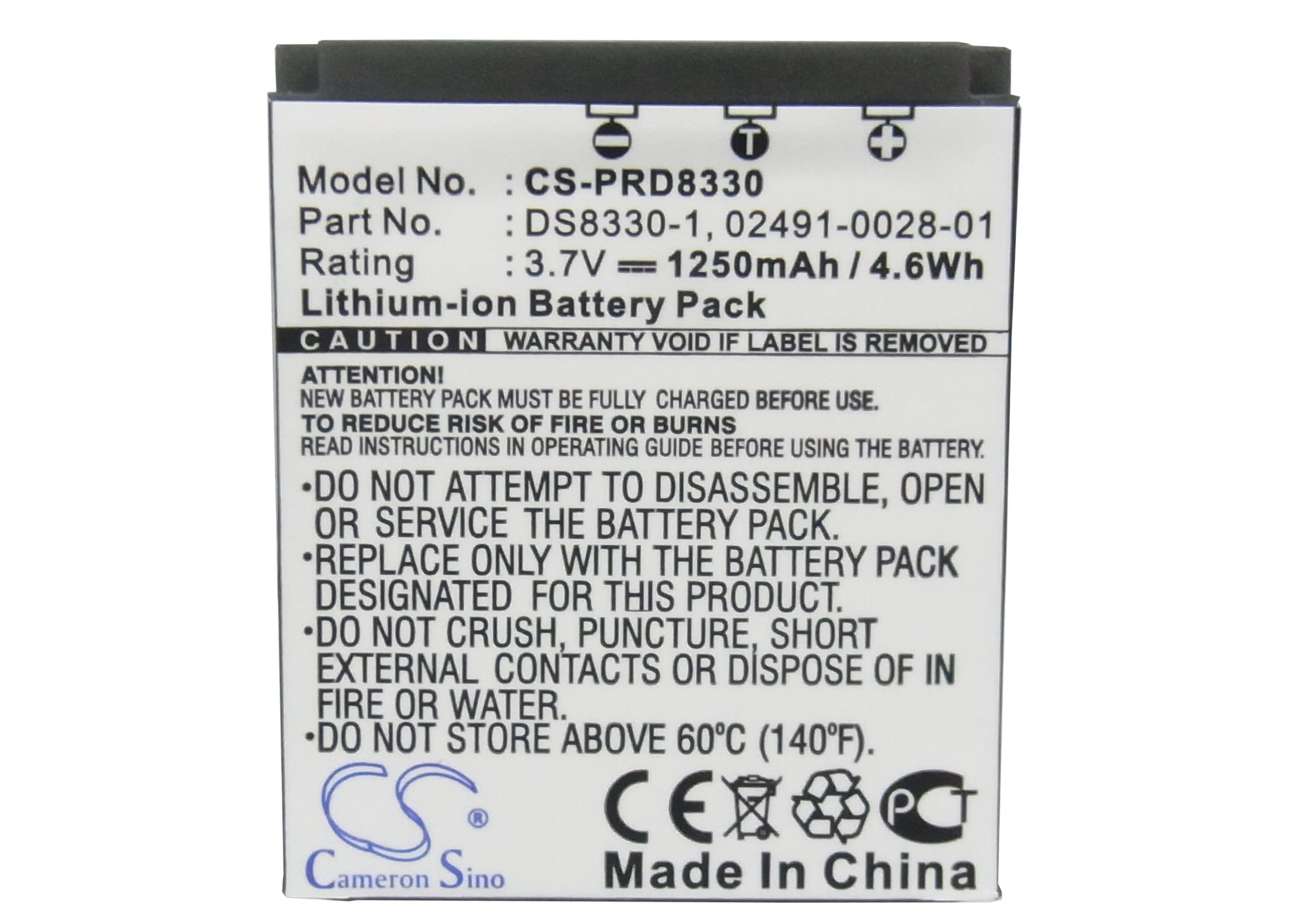 Cameron sino 1250 mah bateria para rollei compactline 150, prego 8330, prego dp8300, prego dp8330, RCP-7430XW, RCP-8427XW, RCP-8527X