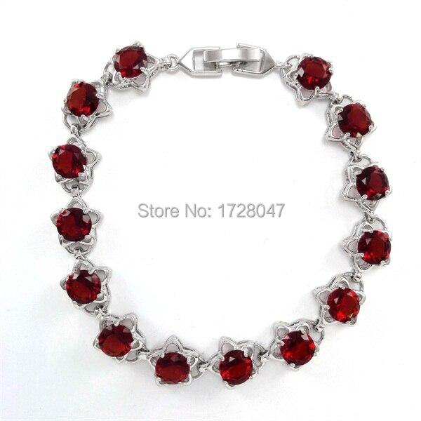 1008e19204d2 Venta caliente de lujo de moda AAA grado flor rojo ZIRCON pulsera de las  señoras