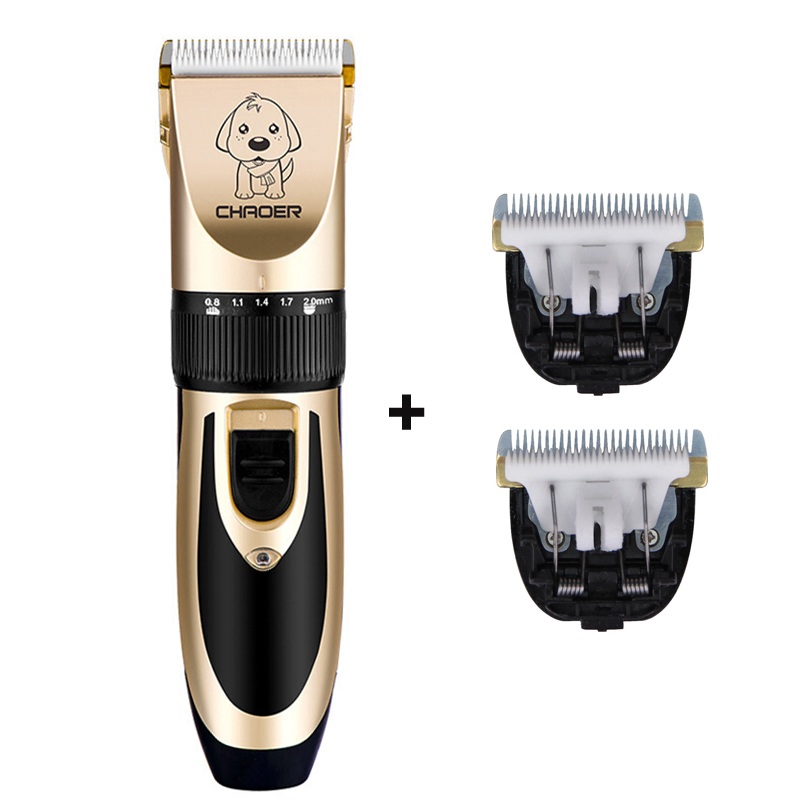 Professional Pet Cat Dog Hair Trimmer Rechargeable Animals Grooming Clippers Electric Scissors Dogs Hair Cutting Machine P60
