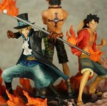 Anime 1Set One Piece Luffy Portgas D Ace Sabo New Box Figure Toys