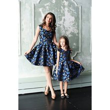 matching outfits mom and daughter dress family clothing summer big sister little fashion girls print floral look