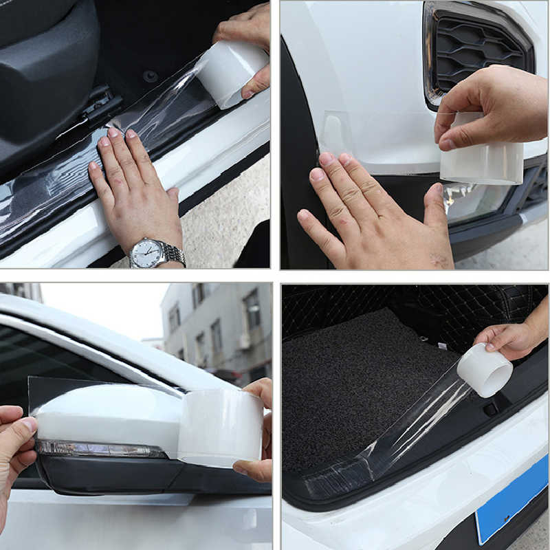 Anti Botsing Auto Deur Stickers Pvc Film Transparante Strip Guards Rear Guard Drempel Bescherming Strips Krasbestendig
