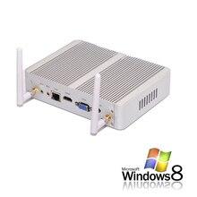 Без вентилятора Серебряный Мини ПК с Celeron N3150 Core i3 4005U 5005U процессор, VGA 6*1 * USB RJ45 media player Win 7 Win 10