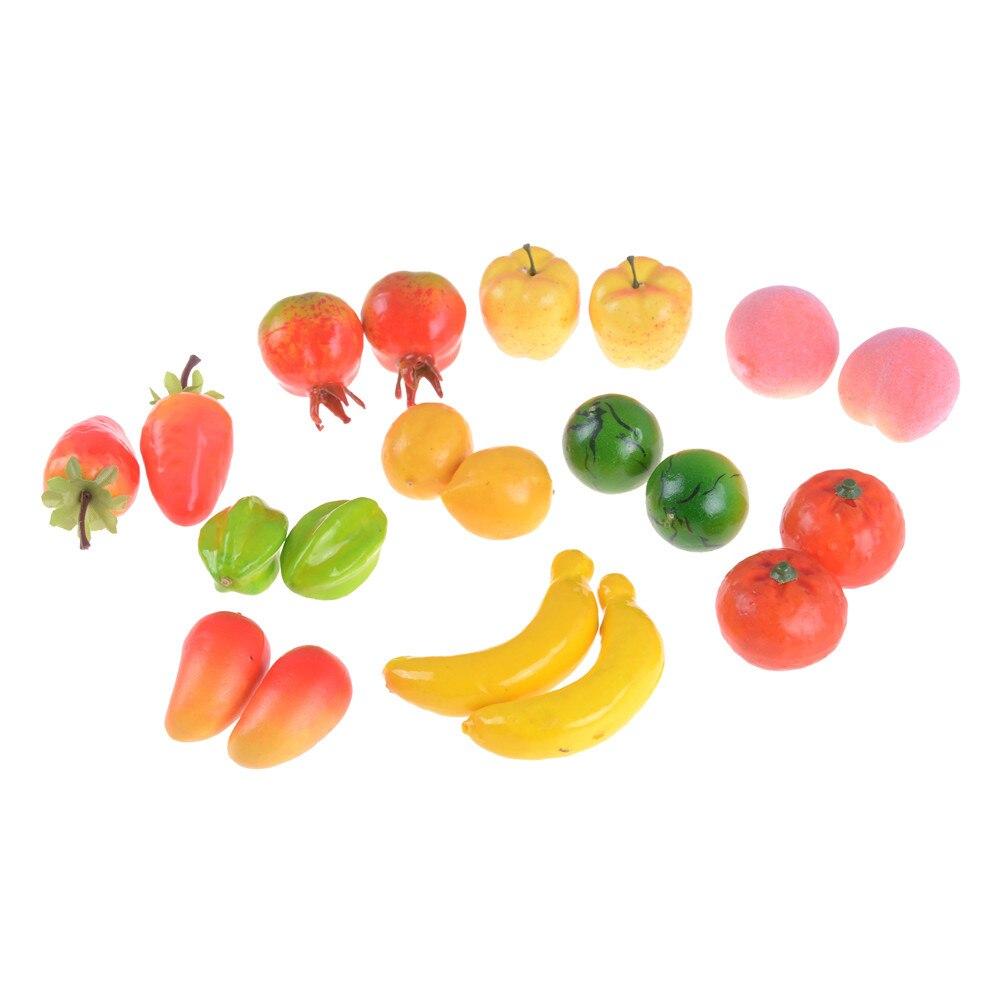 10pcs Miniature Watermelon Artificial Fruits For Dollhouse Fruit Shop Decor
