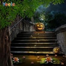 Yeele Happy Halloween Party Photography Background Pumpkin Lantern Photographic Backdrop Customized Photocall For Photo Studio