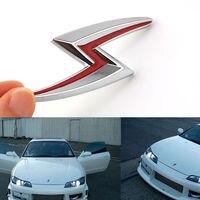 1 X Auto New Chrome S 3D Chrome Metal Car Sticker Front Side Emblem Badge Decal