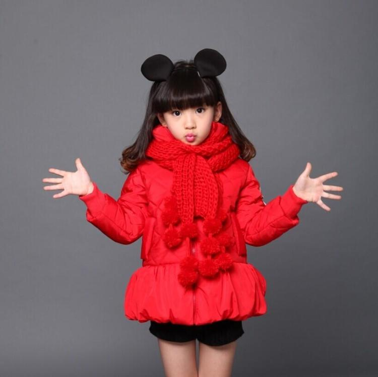 2016 New Kids Girls Winter Coat Cuties Baby Thickening  Long Section Korean Feather Coat Tide Girl Parka2016 New Kids Girls Winter Coat Cuties Baby Thickening  Long Section Korean Feather Coat Tide Girl Parka