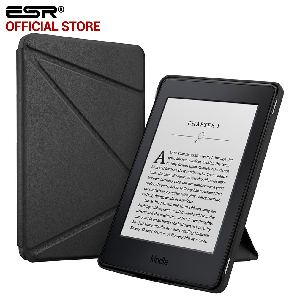 For Kindle Paperwhite Case, ESR Yippee Series Folio Stand Smart Cover Case [Auto Wake Up/Sleep Function] for Kindle Paperwhite case cover for kindle paperwhite 123 ebook pu leather folio flip smart sleep wake up protective case cover vintage texture