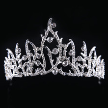 2017 newBridal Strass Mulheres Tiara Casamento Coroa De Noiva Acessórios Do Cabelo Do Casamento Acessório Nupcial Jóias Tiara Do Partido do baile de Finalistas cr13