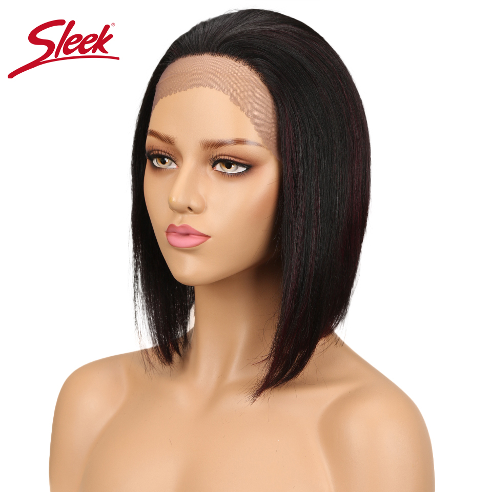 Sleek Remy Straight Hair Short Bob Wig Brazilian 4x4 Lace Front Human Hair Wigs For Black Women P1B/30 P4/30 F1B/99J TT1B/27