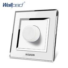 Dimmer Interruptor de La Venta Caliente de China Fabricante Wallpad Pulsador Lujo Arylic Espejo Panel de Pared Interruptor de La Luz