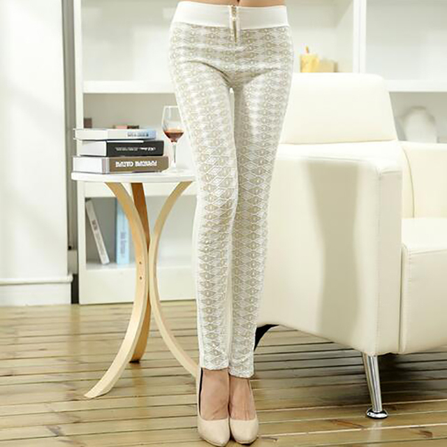 2016 Fashion Solid Lace Leggings Cotton Stretch Skinny Pants Slimming Leggings for Women Femme Elastic Mid Waist Leggins Sexy