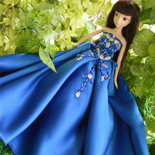 Autonomous design hand made Gifts For Girls Gift Doll Accessories Evening Suit Wedding Dress Clothes For
