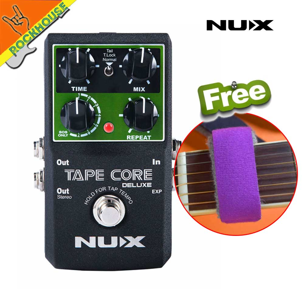 NUX Tape Core Deluxe Echo Delay Guitar Effect Pedal delay effects guitarra stompbox Digital Delay True Bypass free shipping nux time core deluxe delay pedal different types of delays to the upmost ambience
