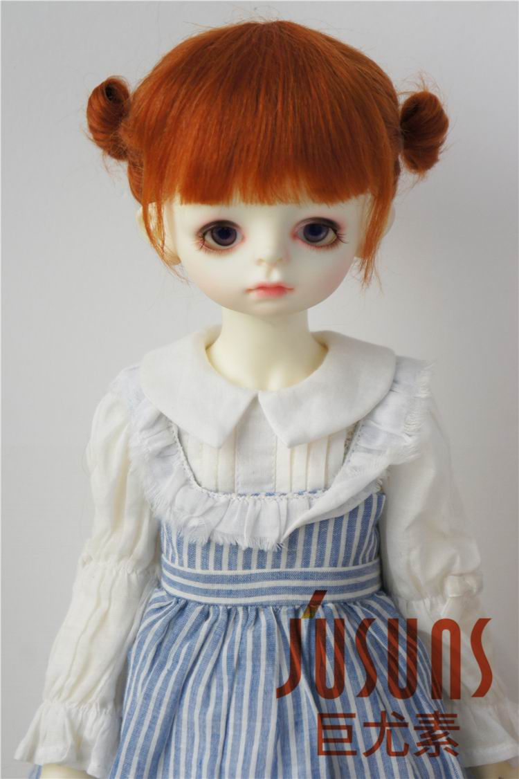 JD415 Large Size Two braids BJD Mohair Wigs in size 8-9 inch 10-11 inch for Dolls  Soft Fashionable Hair doll accessories jd044 msd bjd mohair doll wigs 1 4 mid long curly 7 8inch doll wig magic mohair hair for vinyl doll porcelain doll hair