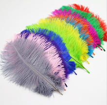 20PCS/lot Loose Ostrich Feathers 10-12inches/25-30cm beautiful plumages diy jewelry material wedding decorations 13colours