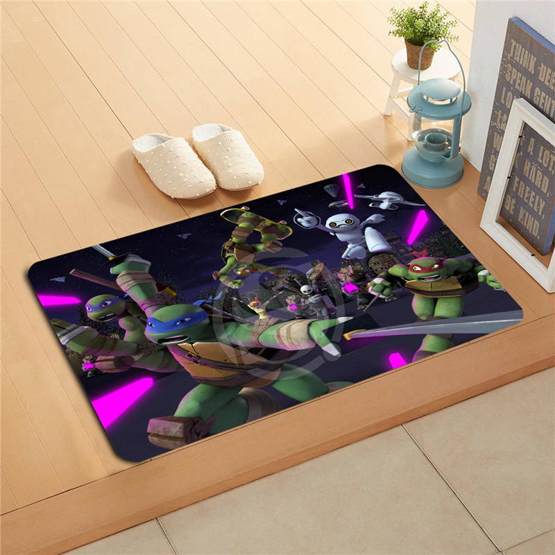 W620#4 Custom Teenage Mutant Ninja Turtles Watercolor Painting Doormat Home Decor Door mat Floor Mat Bath Mats foot pad F-#3