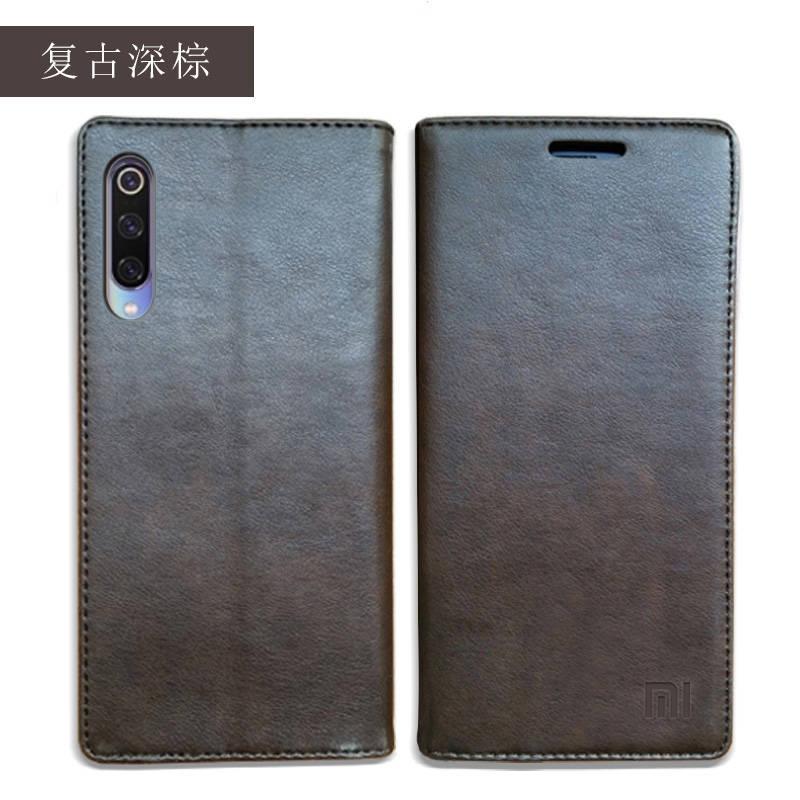 for Xiaomi Mi 9 Case Luxury Genuine Leather Flip Case for Xiaomi Mi 9 Magnetic Book Wallet Cover for Xaiomi mi9 Phone Coque Case04