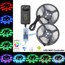 LED Strip 12V Waterproof LED Light Strip SMD 2835 Flexible RGB Tape String Ribbon WiFi LED Controller US EU Plug Power Adapter