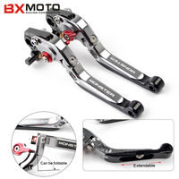 Titanium Color Motorcycle Aluminum Adjustable Foldable Extendable Brake Clutch Levers For Ducati Monster 696 695 796