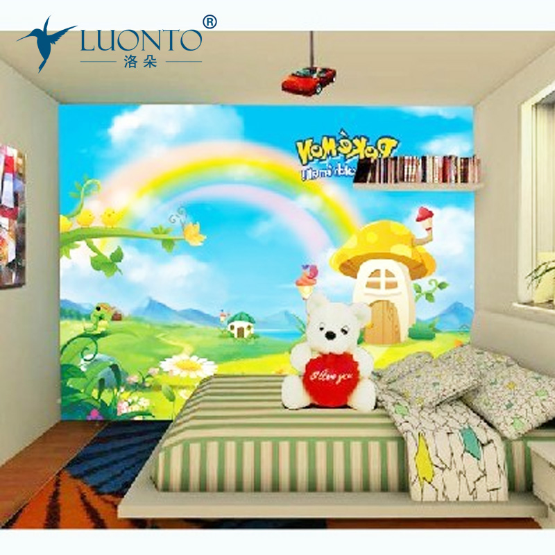 kresba rostlin pro děti - Large custom murals custom factory kids Mural colored drawing self-adhesive room wallpaper child pvc wallstickers home decor