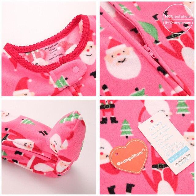 Orangemom عيد الميلاد الربيع الخريف ملابس الطفل الوليد لينة الصوف السروال القصير 0-24m الرضع بذلة الطفل الكرتون ازياء منامة 2