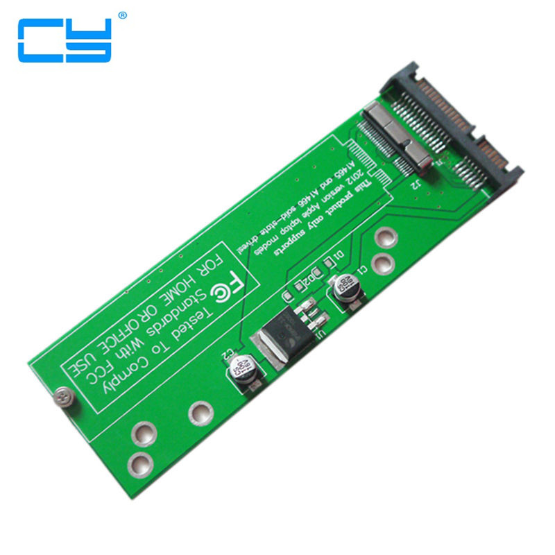 17+7pin SSD HDD to SATA 22Pin Hard Disk Cartridge Drive PCBA for Macbook Air Pro MD223 MD224 MD231 MD232 SSD 2 5 sata hard drive caddy tray ssd hdd hard disk internal for apple macbook pro unibody 13 15 17 superdrive dvd drive