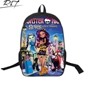 New Hot selling monster school bag 3D Printing monster high backpack clawdeer travel bags for free shipping