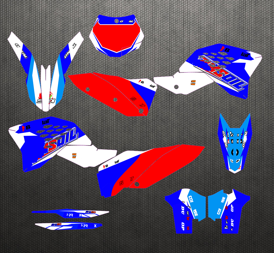 Free Customized <font><b>Graphics</b></font> & Backgrounds Stickers Kit Decal Red Blue For <font><b>KTM</b></font> SX-F SX 2007-2010 / <font><b>EXC</b></font>-F <font><b>2008</b></font> 2009 2010 2011 2012 image