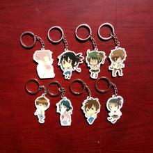 8pcs/set Impress Story Kimi no na wa Anime Your Name Taki Mitsuha Keychain Bag Pendant Keyring Portachiavi