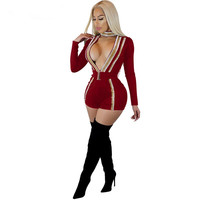 2018New Women Long Sleeve Cut Out Playsuits Evening Party Club Overalls Striped Sparkle Bodysuits Female Short