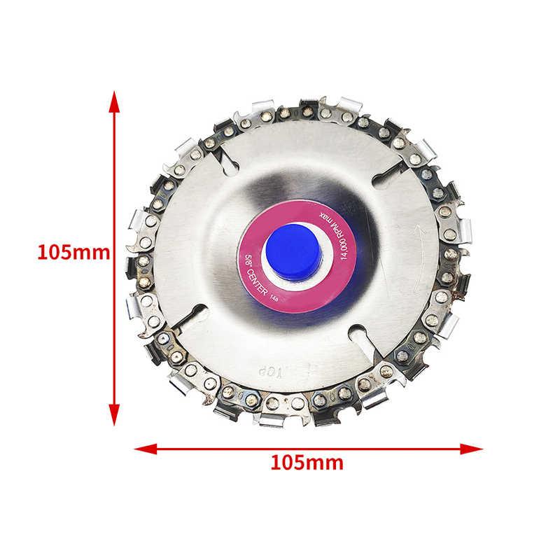 4 дюйма 22 зуба шлифовальный диск тонкая цепная пила 4 дюйма угловая резьба по дереву пластмассы для 100/115 угловая шлифовальная машина