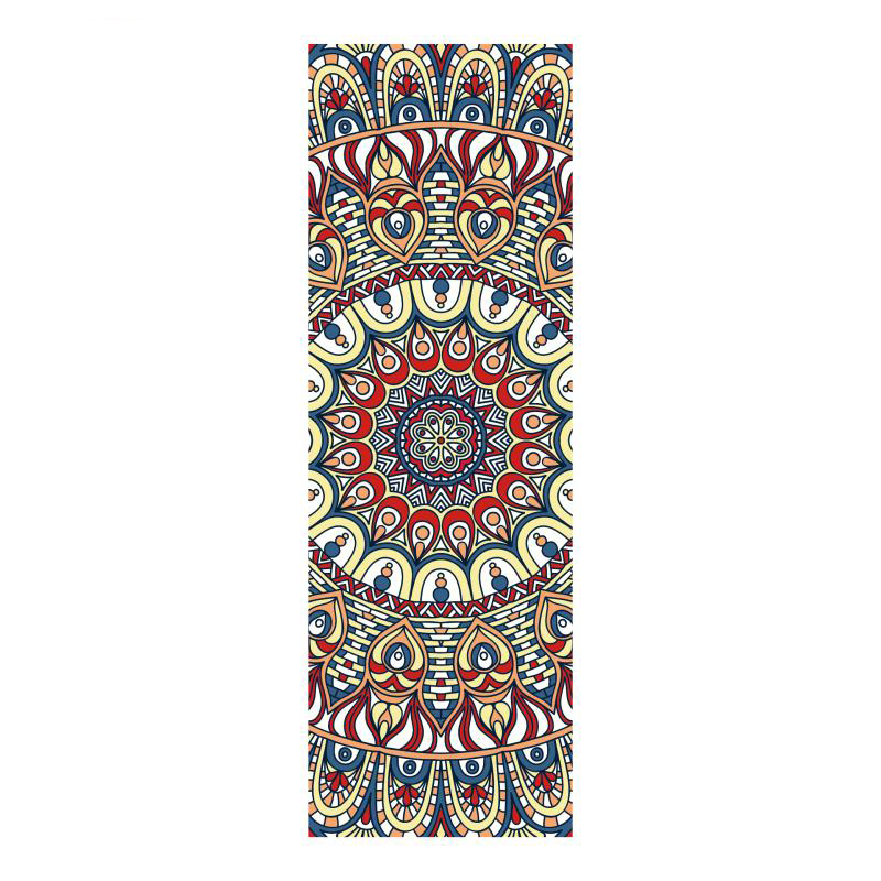 Yoga Mat Towel - High Quality Digital Print 183x61cm Microfiber, Non Slip Silicone, Lightweight / Improve Hot Yoga, Pilates, Bik dmasun slip resistant yoga blanket good quality gymnastics yoga mat towel non slip fitness bikram towels