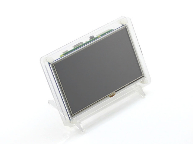 Raspberry Pi ЖК-Дисплей 5 дюймов HDMI LCD B) (с clear case) сенсорный Экран Поддерживает Raspberry Pi 2 Banana Pi/Banana Pro