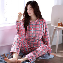 Warm Pajamas Female Winter Thick Cartoon Women Pajamas Sets Autumn Coral Fleece Pyjama Women Long Homewear Sleep Lounge L XL XXL
