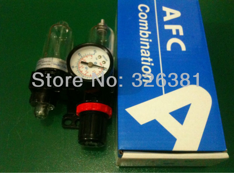 AFC G1/4 Air Filter Regulator Lubricator Combinations Water Oil Separator Max. Pressure 9.9kgf Air compressor parts стоимость