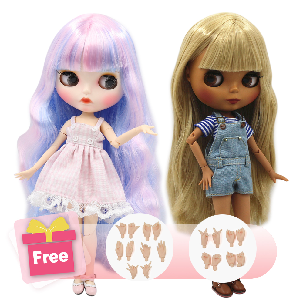 ICY Factory Blyth Doll Joint Body DIY Nude BJD toys Fashion Dolls girl gift Special Offer on sale with hand set A&B-in Dolls from Toys & Hobbies