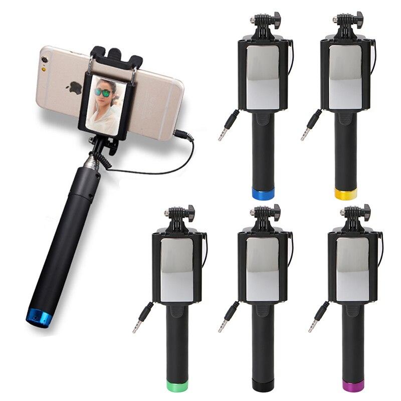 Ootdty Новый 2017 прибытие Портативный ручной держатель кабеля палка для селфи складной Автоспуск стержень для сотового телефона Лидер продаж