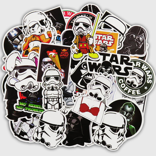 55 Pcs Star Wars Stickers for Skateboard Laptop Luggage Car Styling Waterproof Decal Home decor Toy Creative Cool Sticker