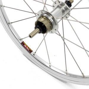 """Image 3 - バイクホイールセット 1 3 速度 16 × 1 3/8 """"349 を kinlin NB R リム 14 h/21 h ブロンプトン用 3 シックス超軽量折りたたみ自転車ホイール 800 グラム diy"""