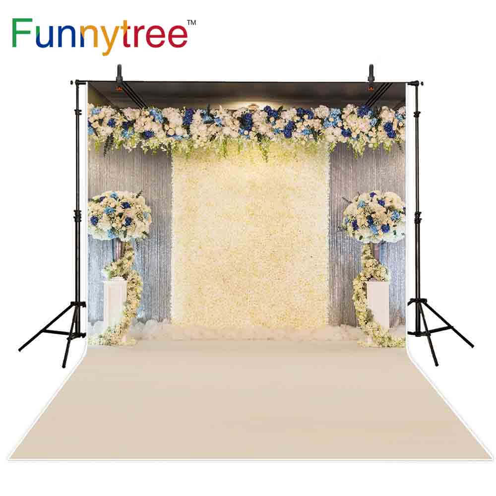 Funnytree backdrop for photographic studio wedding flowers decoration for Romantic ceremony professional background photocall