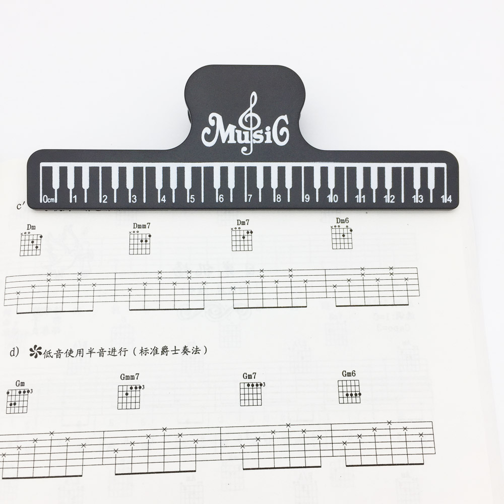 Plastic Music Sheet Clip Book Holder For Guitar Violin Piano Player Length 15cm/5.9in Black Red Blue Yellow Color