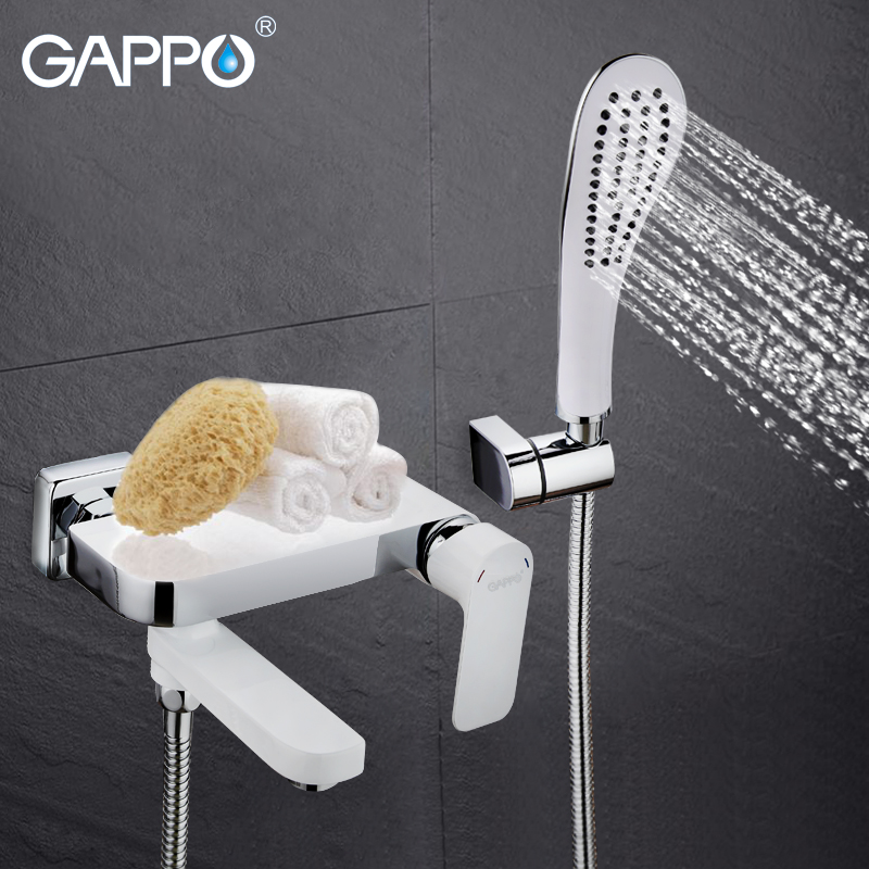 GAPPO Bathtub Faucet tap bathroom shower faucet set waterfall bath sink faucet wall mounted bathroom faucet bath tub mixer mojue thermostatic mixer shower chrome design bathroom tub mixer sink faucet wall mounted brassthermostat faucet mj8246
