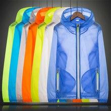 Men Women Quick Dry Sun-Protective Cycling Jacket Anti-UV Outdoor Sports Clothing Camping Hiking Skin Jacket Fishing Coat XS-7XL