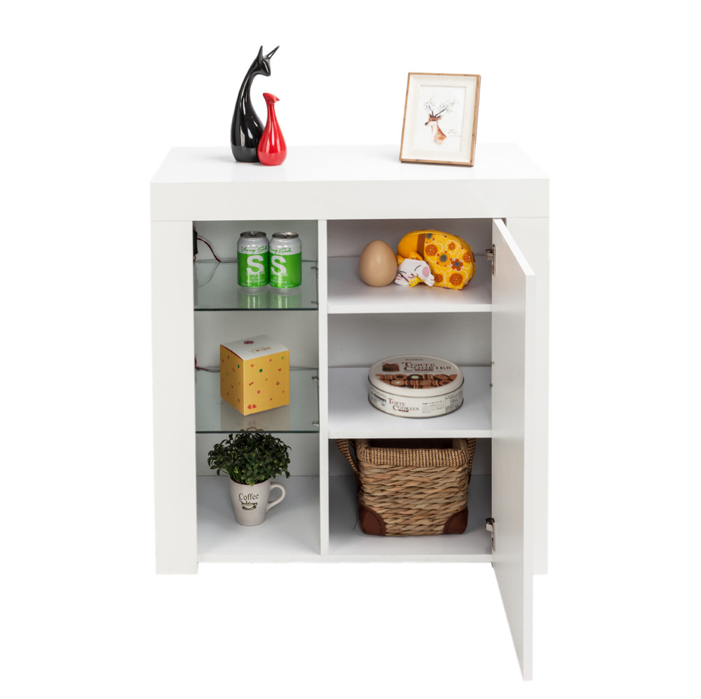 Creative Led Tv Cabinet Living Room Cabinet With Door Modern Medicine Cabinet White Storage Wood Shelf Bringing More Convenience To The People In Their Daily Life