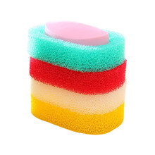 Candy Colors Sponge Soap Dishes Box Bathroom Sets Absorbent Easy To Dry Soap Holder Shower Bamboo Plate Saver Dish Box Case Tray(China)